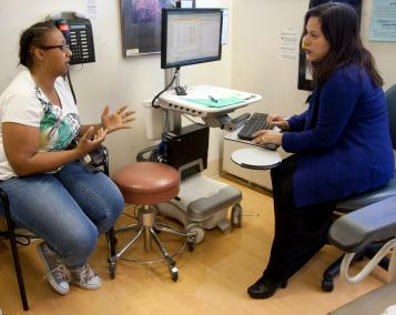 Provider counseling patient