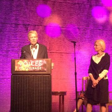 Dr. Phil Darney receiving award